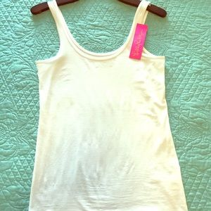 NWT. Lilly Pulitzer white tank top.